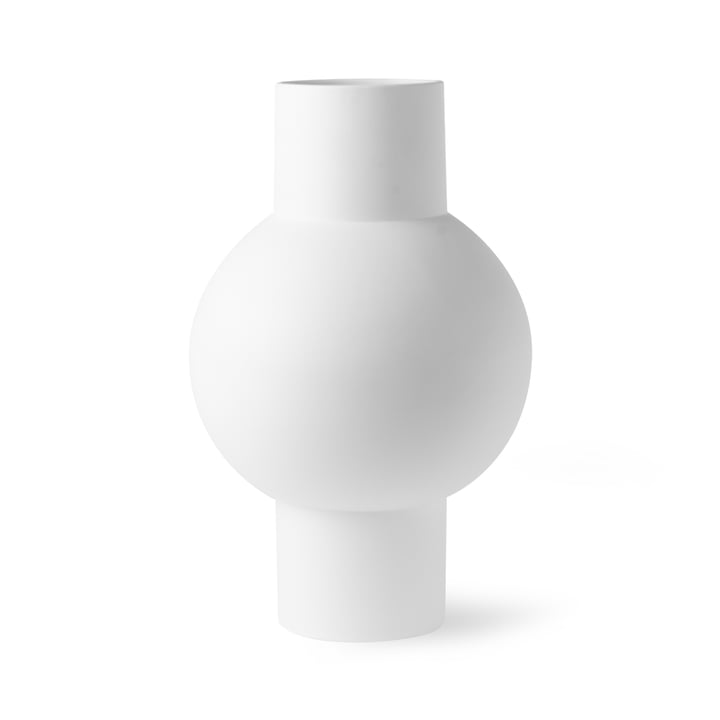 Vase M, Ø 21 x H 21 cm, matt white by HKliving