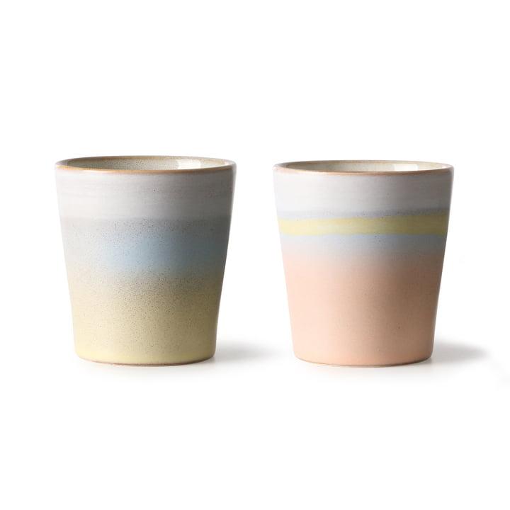 70's Horizon mug 0.18 l (set of 2) by HKliving in multicolor