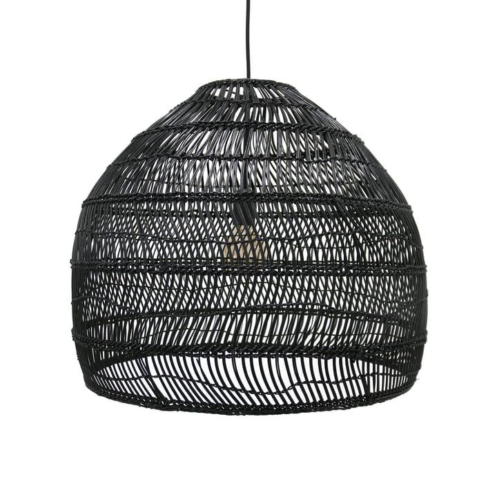 Wicker pendant lamp M Ø 60 x H 50 cm by HKliving in black
