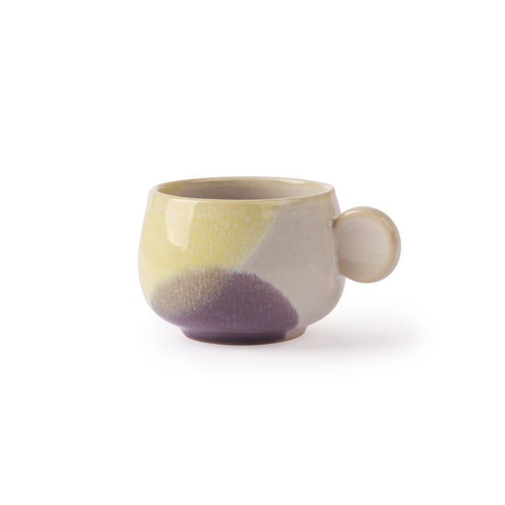 Gallery coffee cup 0.185 l by HKliving in yellow / violet