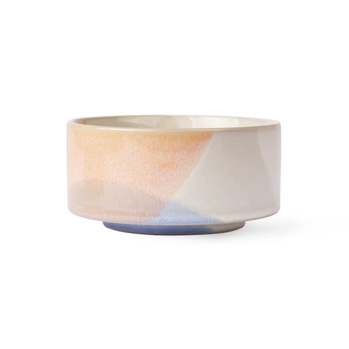 Gallery bowl Ø 12 cm by HKliving in peach / blue