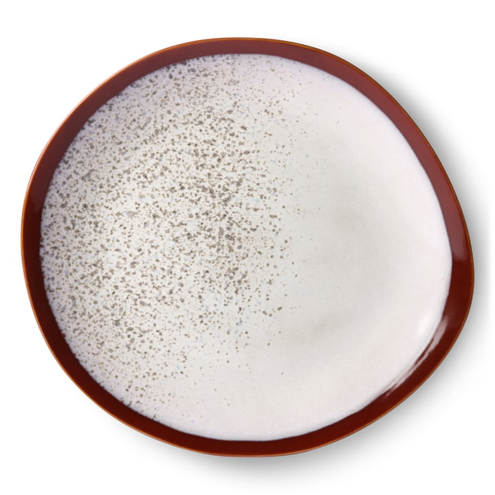 70's plate Ø 29 cm by HKliving in frost