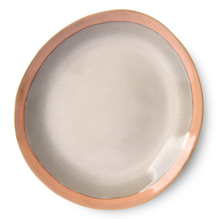 70's plate Ø 29 cm by HKliving in terracotta