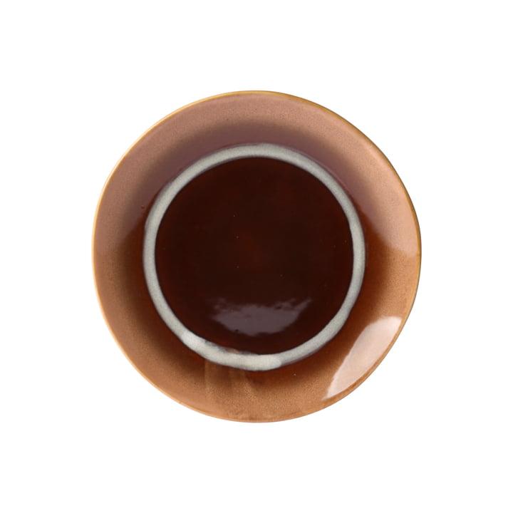 70's dessert plate Ø 17.5 cm by HKliving in brown