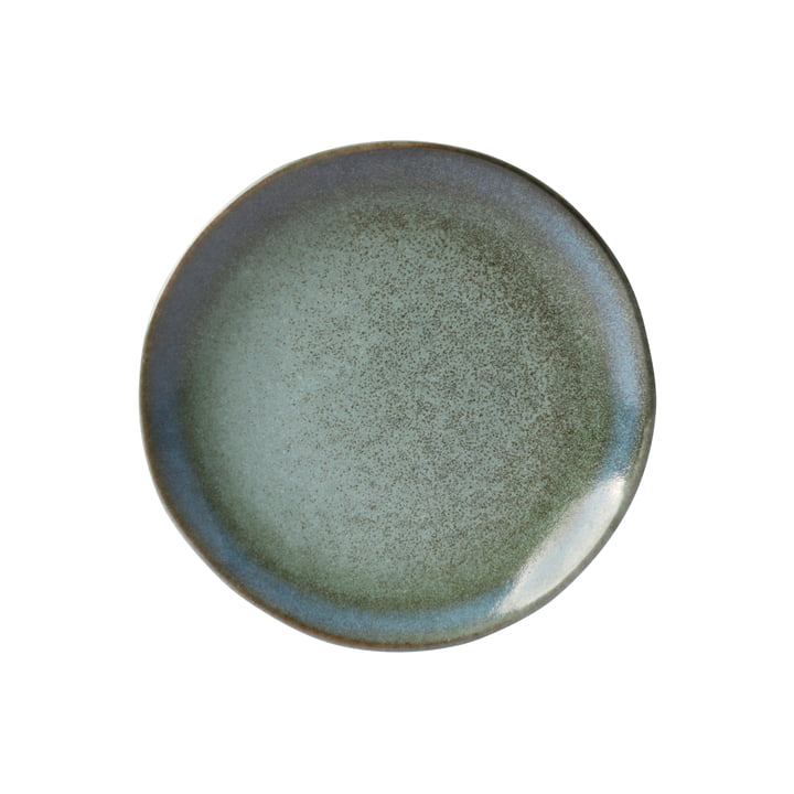 70's dessert plate Ø 17.5 cm by HKliving in moss green