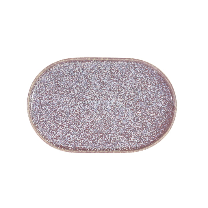 Gallery plate 23.5 cm oval by HKliving in purple