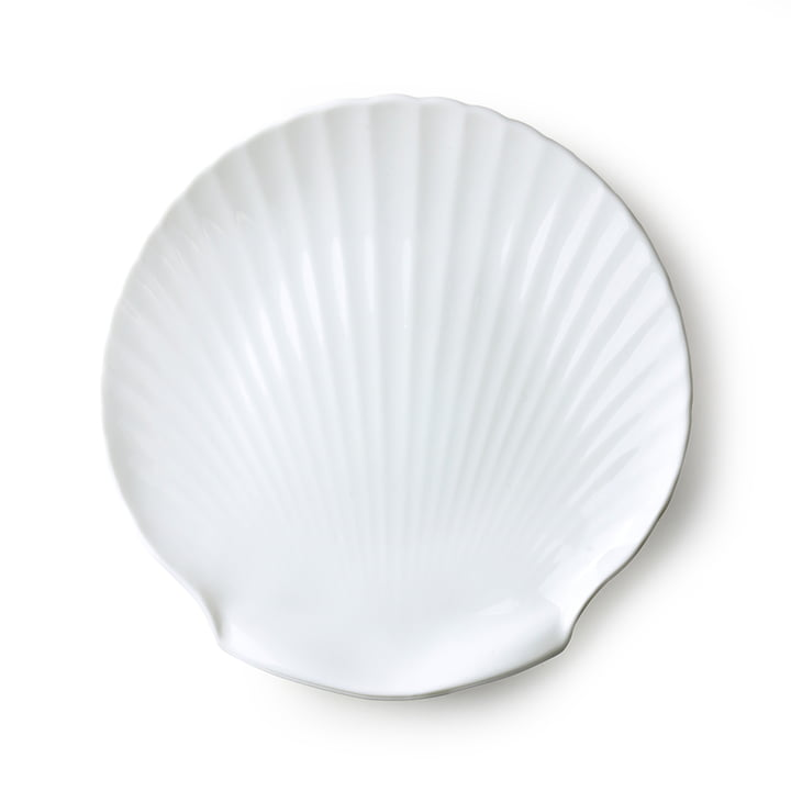 Athena Muschel serving tray Ø 27 cm by HKliving in white