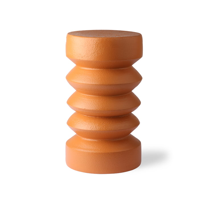 Terra side table, Ø 23 cm, orange by HKliving