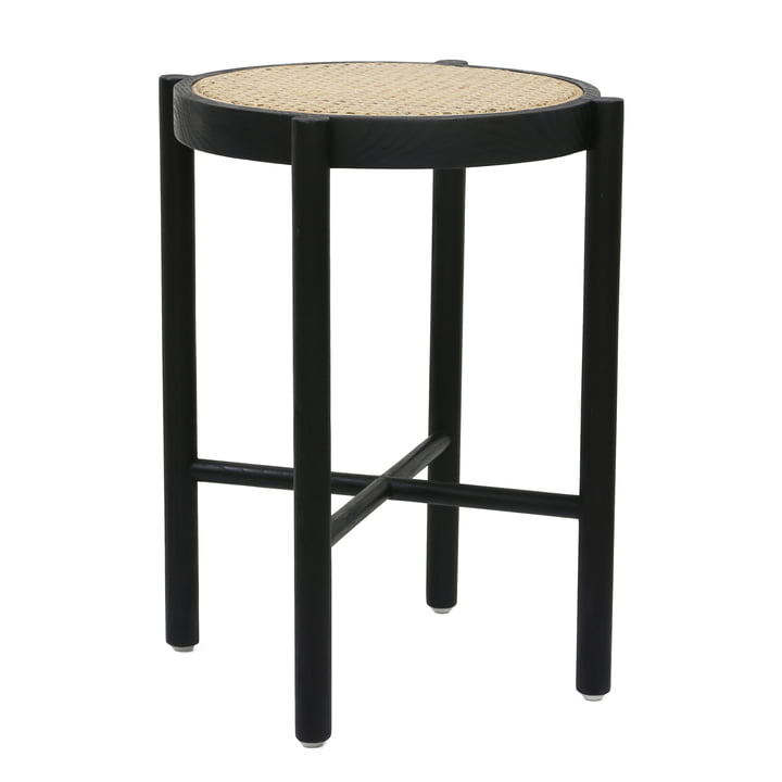 Retro Webbing woven HKliving stool, black by HKliving