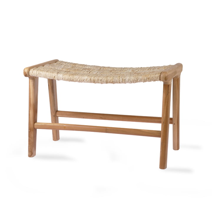 Abaca Ottoman by HKliving in natural