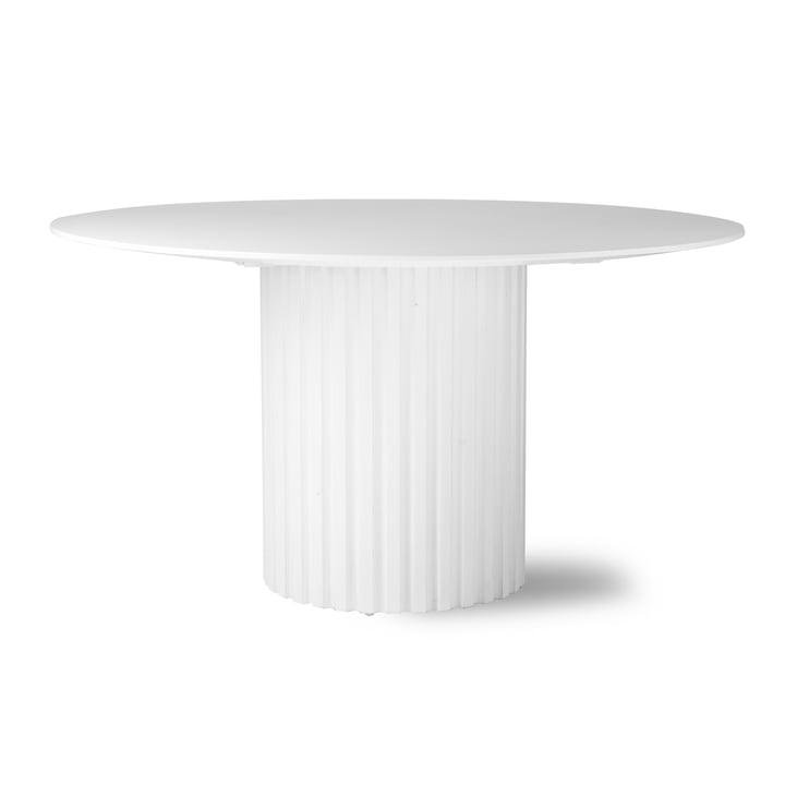 HKliving - Pillar dining table round, Ø 140 cm, white
