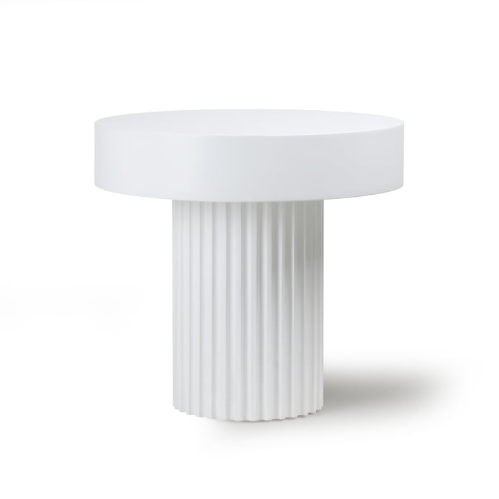 Pillar coffee table, Ø 49 cm, white by HKliving
