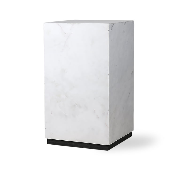 Block side table S, marble, white / black by HKliving