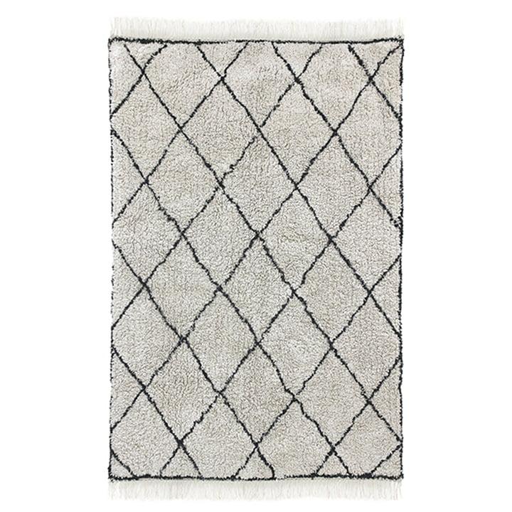 Diamond carpet 120 x 180 cm by HKliving in white / black