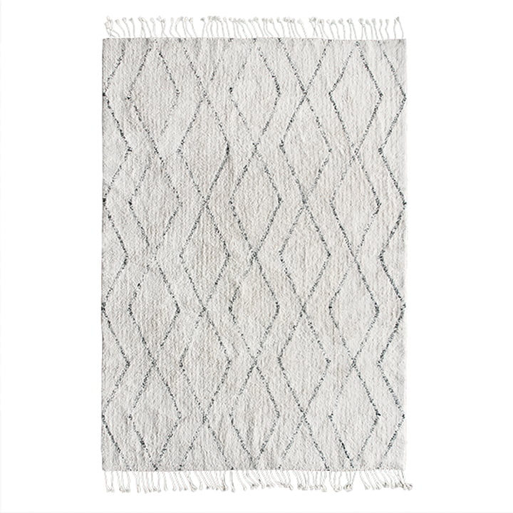 Berber carpet 140 x 200 cm by HKliving in white / black