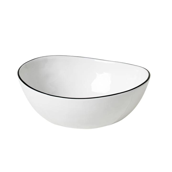 Salt bowl, 15.5 x 17 x H 6 cm, white / black from Broste Copenhagen