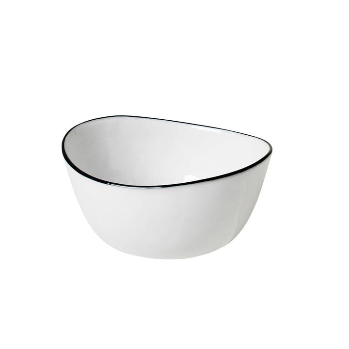 Salt bowl, 10 x 11 x H 5.5 cm, white / black from Broste Copenhagen