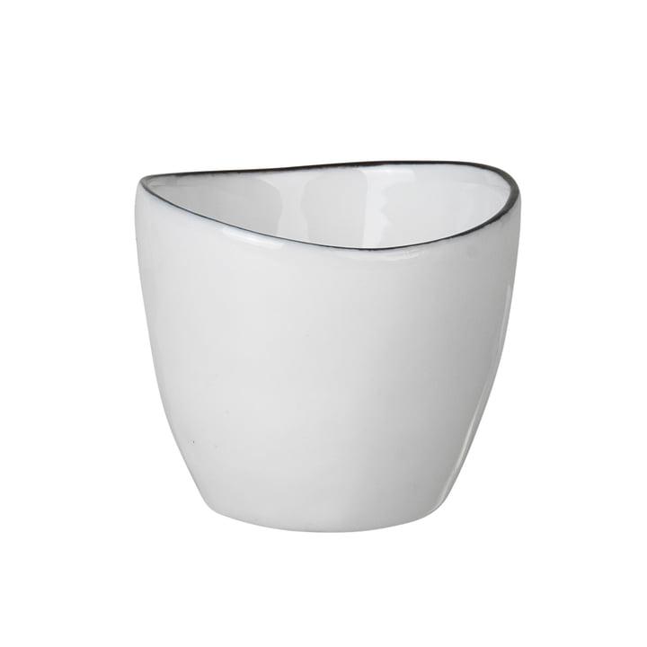 Salt egg cup, white / black from Broste Copenhagen