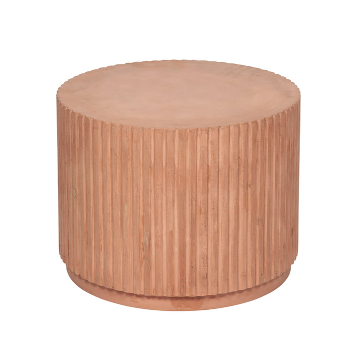 Rillo side table, Ø 56 x H 42 cm, camel by Broste Copenhagen