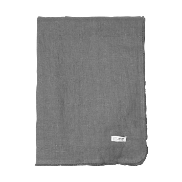 Gracie tablecloth, 160 x 200 cm, dark shadow by Broste Copenhagen