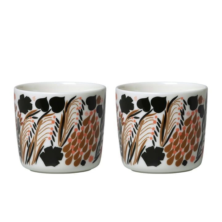 Letto mug (set of 2), 200 ml, white / green / black by Marimekko
