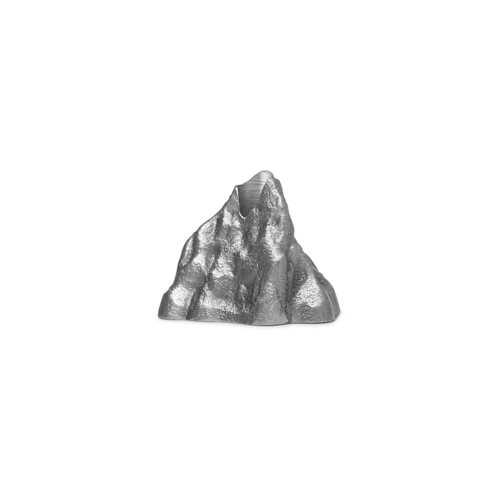 Stone candle holder small, aluminum by ferm Living
