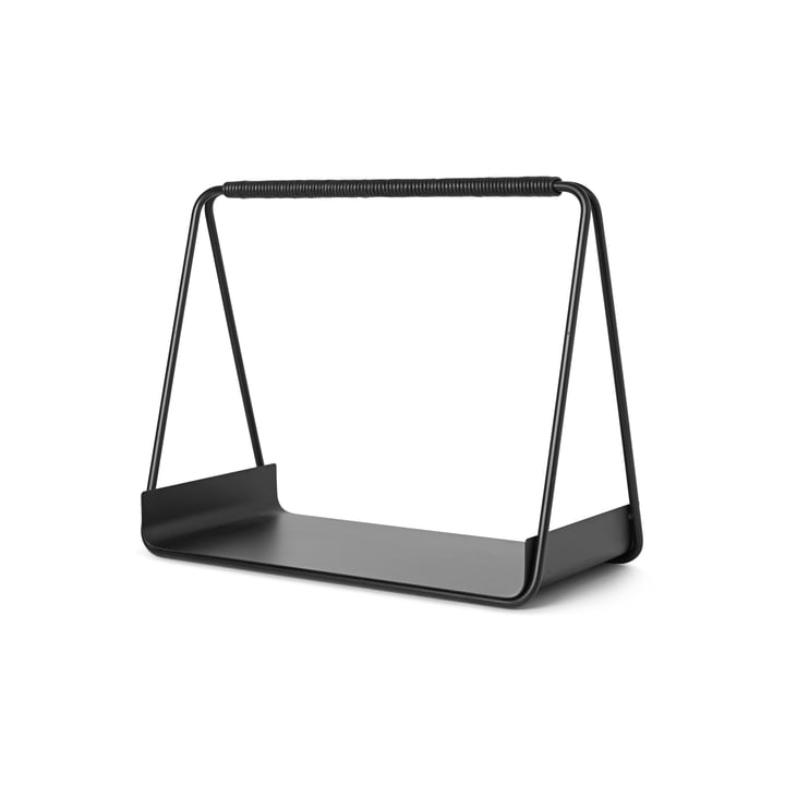 Port wood storage, black by ferm Living