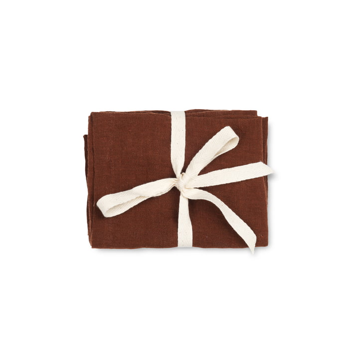 ferm Living - Linen Napkins, 45 x 45 cm, cinnamon (set of 2)