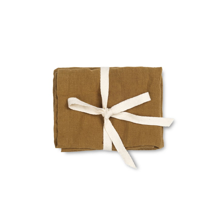 Linen napkins, 45 x 45 cm, cinnamon (set of 2) by ferm Living