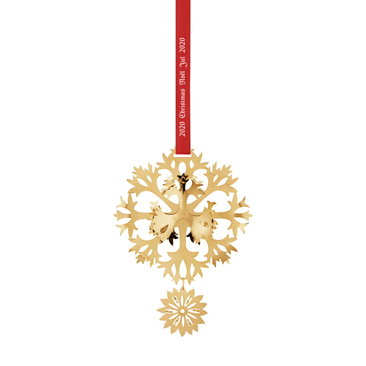 Christmas Mobile 2020 Eisblume, gold by Georg Jensen .