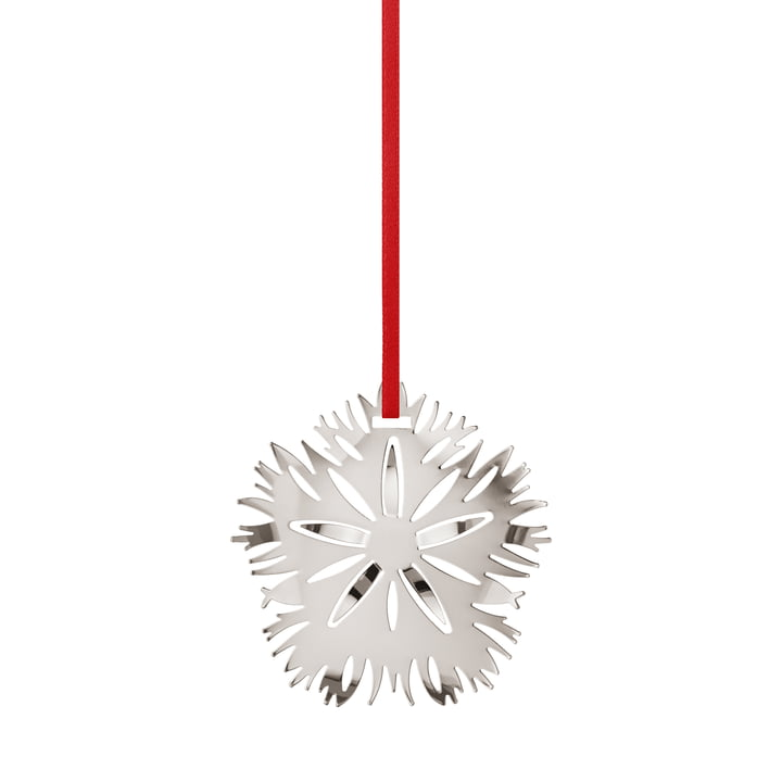 Holiday Ornament 2020 Ice Dianthus, palladium by Georg Jensen .