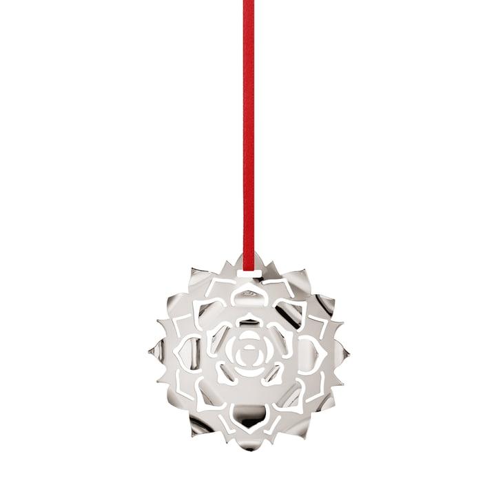Holiday Ornament 2020 Ice Rosette, palladium by Georg Jensen .