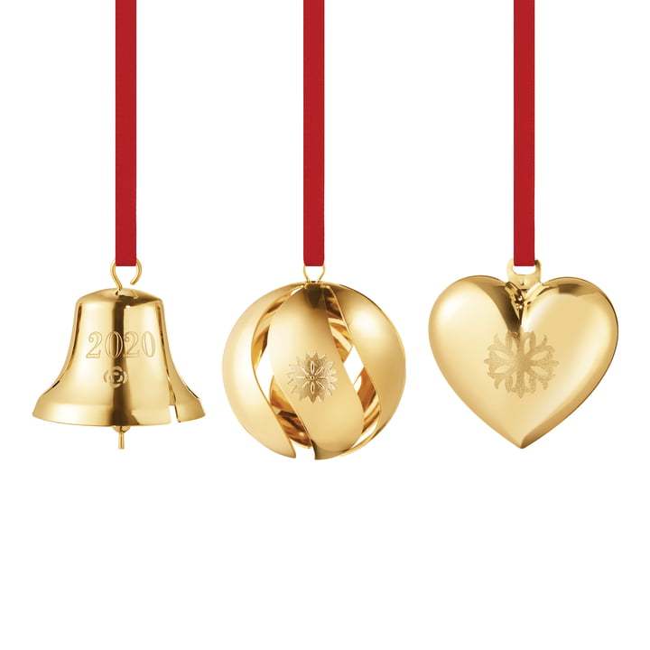 Gift set 2020 (3 pieces), gold by Georg Jensen .