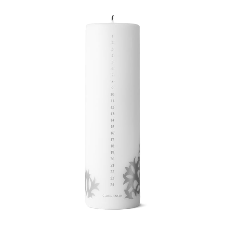 Christmas Collectibles Calendar Candle 2020, silver by Georg Jensen .