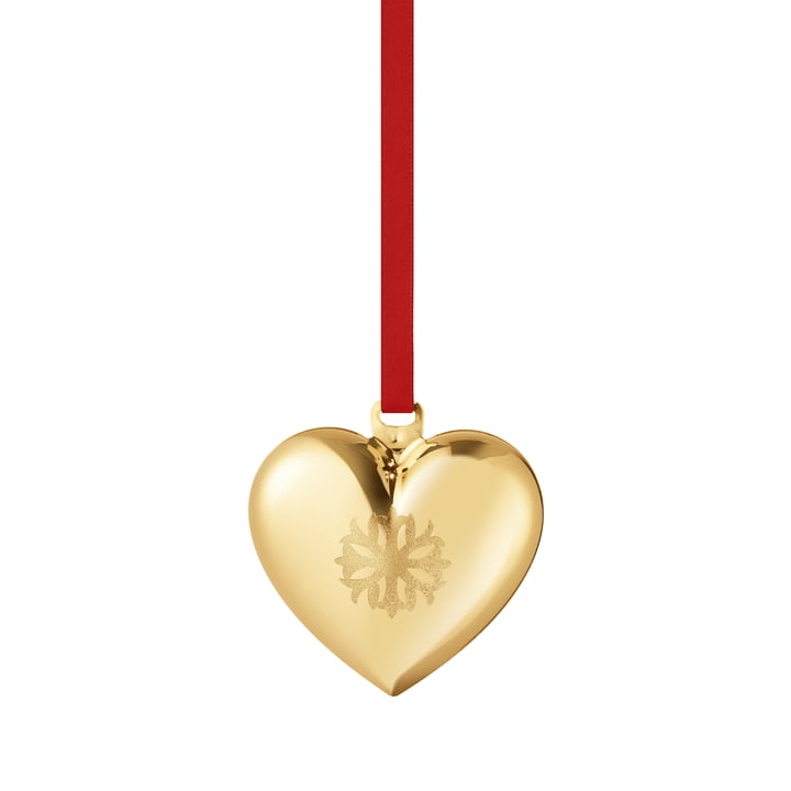 Christmas heart 2020, gold by Georg Jensen .
