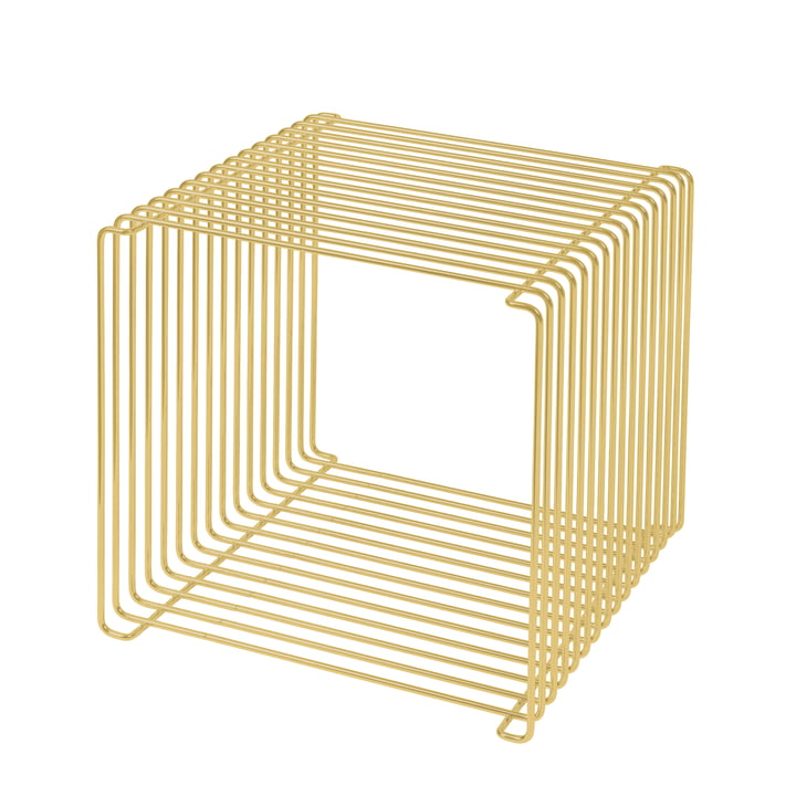 Panton Wire shelf / side table 34.8 cm by Montana in matt gold (limited edition)