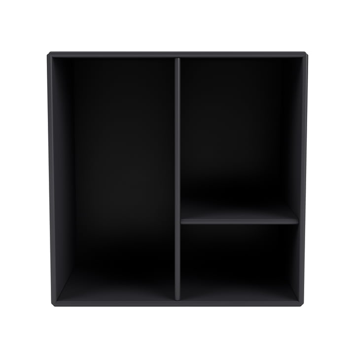 Mini shelf module with shelves, anthracite from Montana .