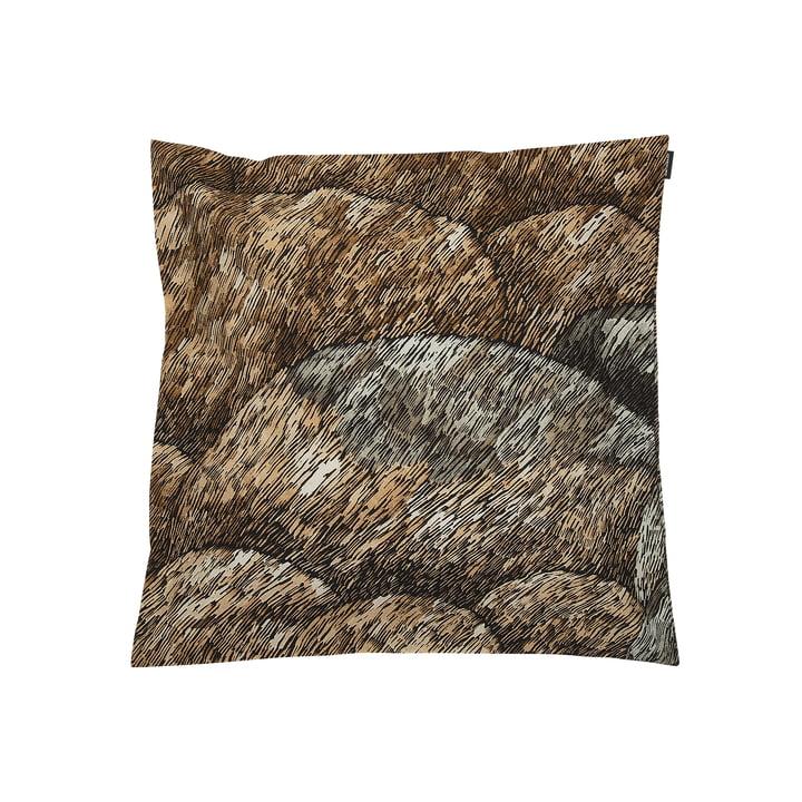 Kokadera cushion Kokadera 50 x 50 cm by Marimekko in black / brown / dark green