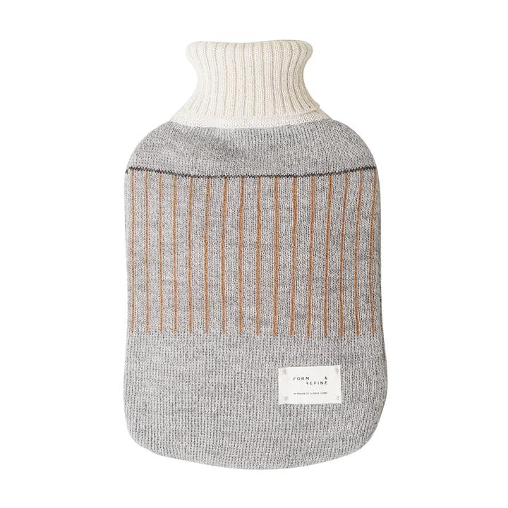 Aymara hot water bottle, patterned gray by Form & Refine