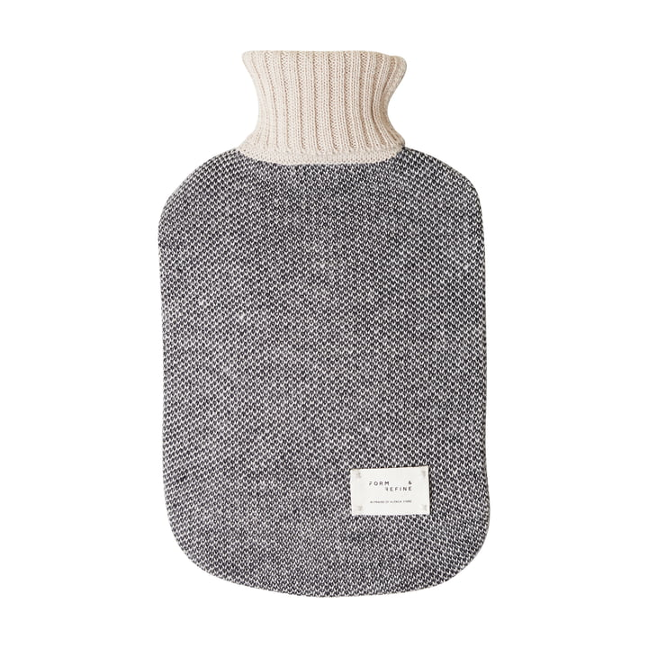 Aymara hot water bottle, patterned cream by Form & Refine