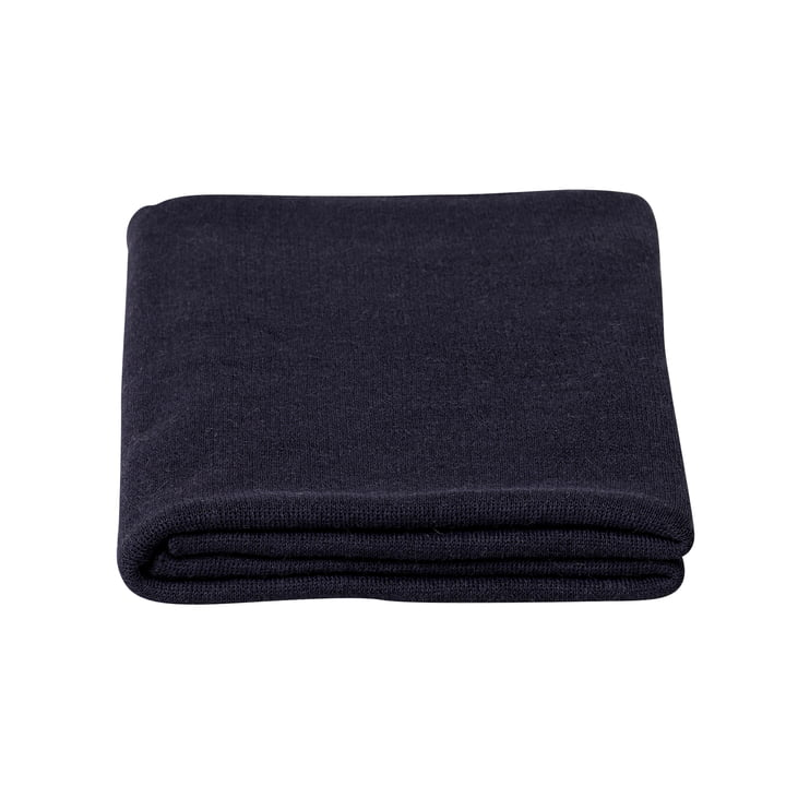 Aymara blanket, 130 x 190 cm, solid color dark blue by Form & Refine
