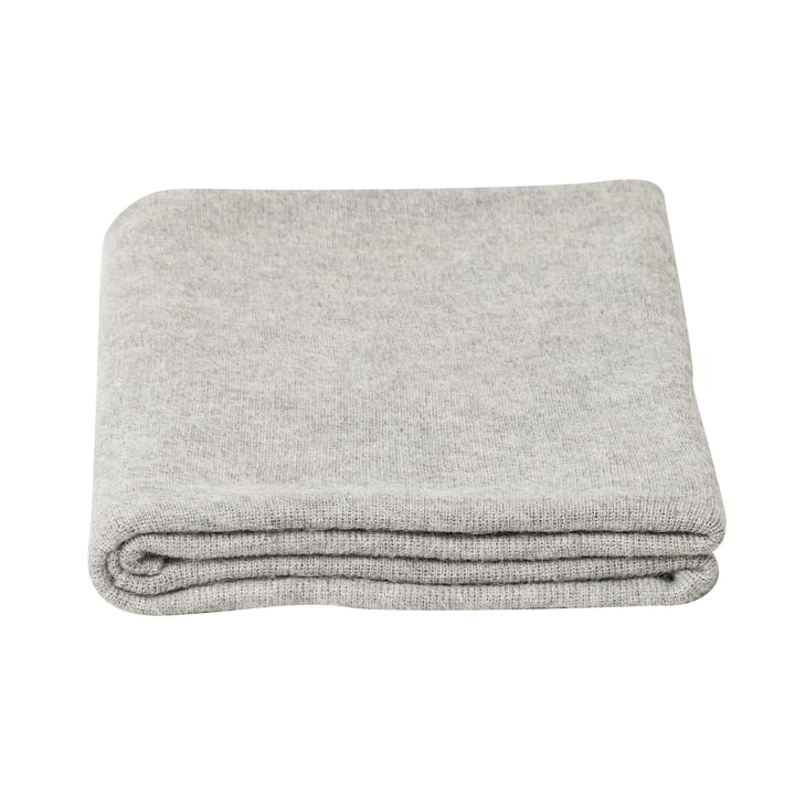 Aymara blanket, 130 x 190 cm, solid color gray from Form & Refine