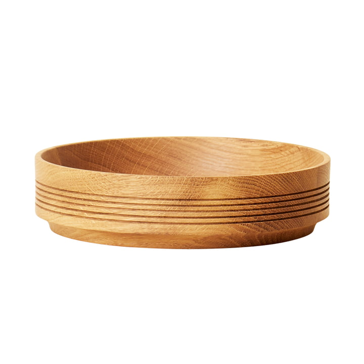 Section wooden bowl, Ø 24 cm H 6 cm, oak from Form & Refine