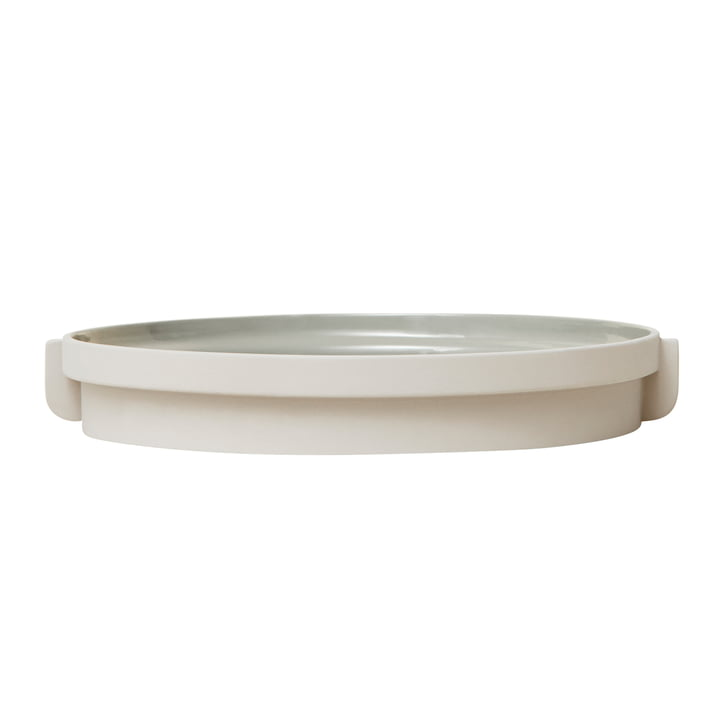 Alcoa tray, Ø 30 cm, light gray by Form & Refine