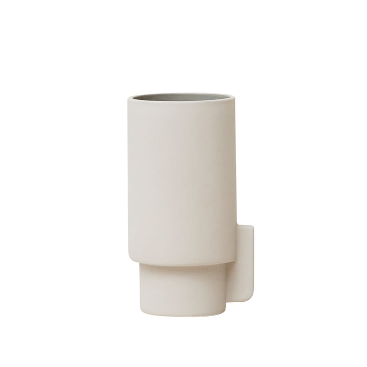 Alcoa vase, small, Ø 6.3 H 12.5 cm, light gray by Form & Refine