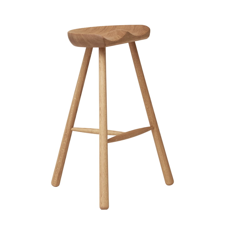 Shoemaker Chair, No. 68, white pigmented oak from Form & Refine