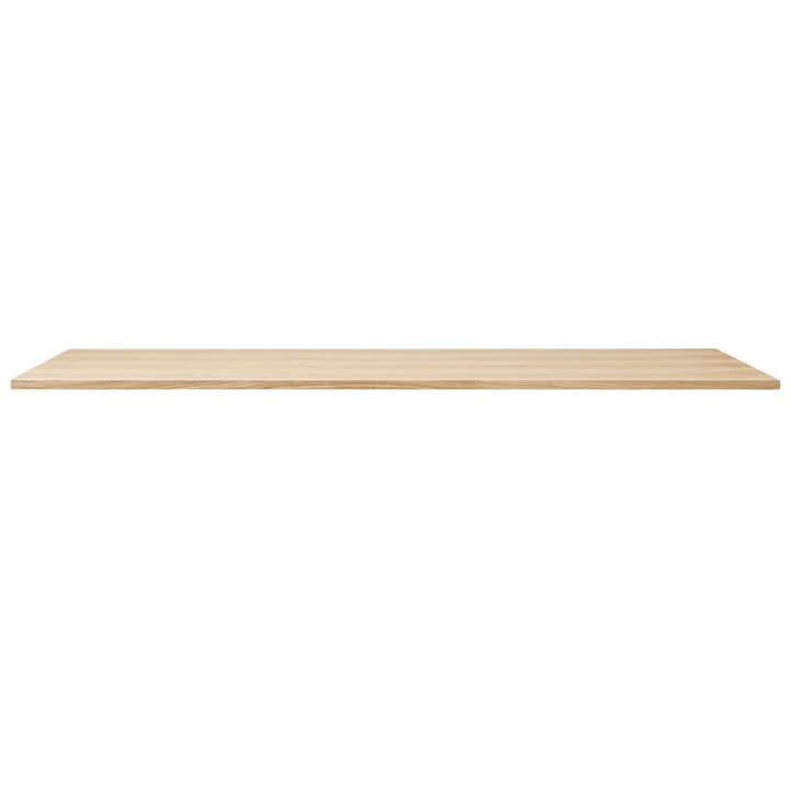 Linear table top, 205 x 88 cm, white pigmented oak from Form & Refine