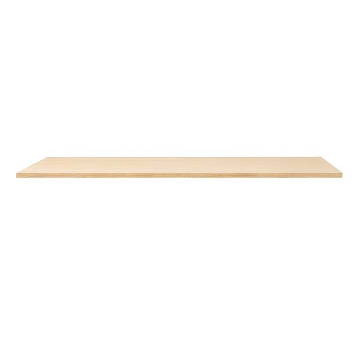 Linear table top, 165 x 88 cm, white pigmented oak from Form & Refine
