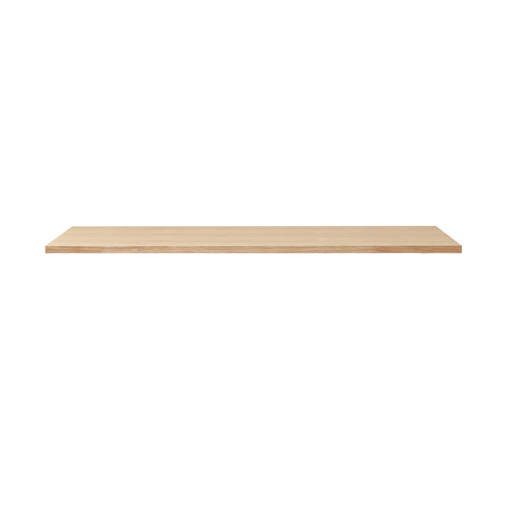 Linear table top, 125 x 68 cm, white pigmented oak from Form & Refine