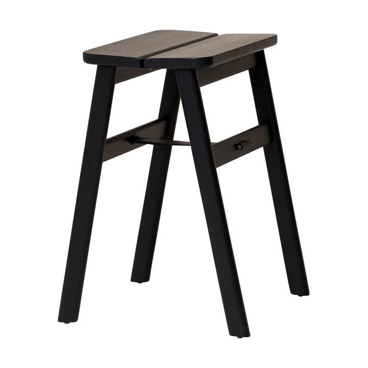 Angle stool, black oak from Form & Refine
